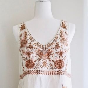 Johnny Was Embroidered Tank Dress